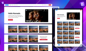 bootstrap free example template download video responsive page