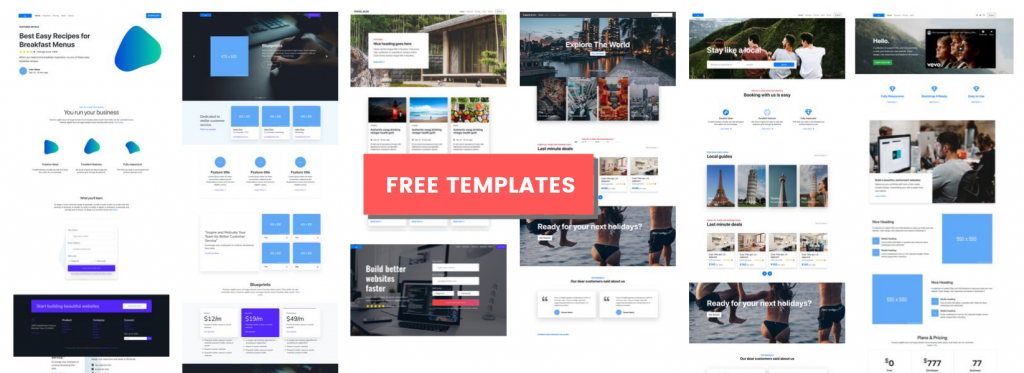 Bootstrap free template landing page free download
