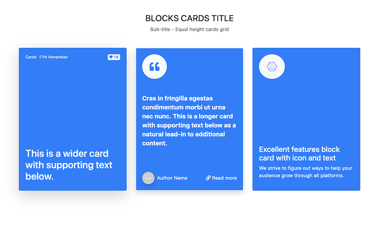 Bootstrap-4-snippet-block-cards-different-layouts