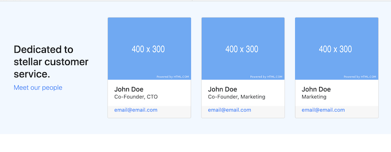 bootstrap-4-snippet cards team columns