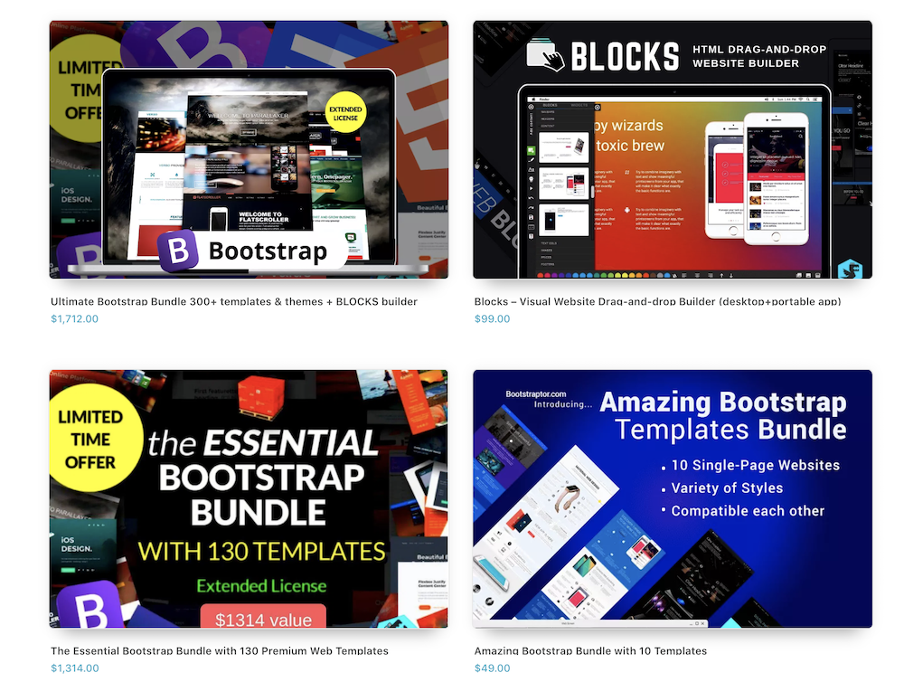 bootstrap premium templates and themes  bundle