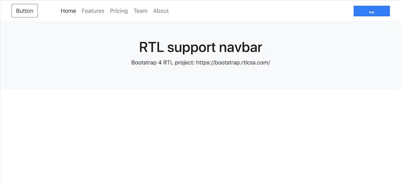 bootstrap-rtl-navbar-example
