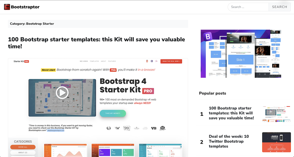 Bootstrap wordpress