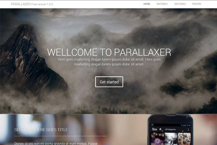 one page scrolling bootstrap template